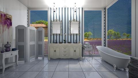 bath levender - Bathroom  - by sacikae