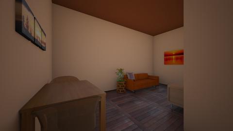 living room orange - Living room  - by inosakow