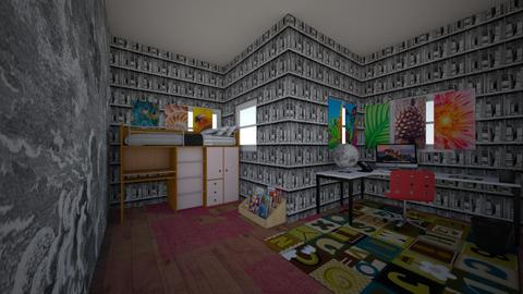 kids bedroom house - Feminine - Bedroom - by moderngirl12