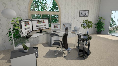 my office - Eclectic - Office  - by Tongbram_design 2018