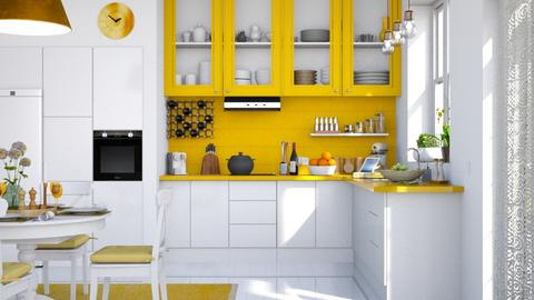 Sunny Kitchen - Eclectic - Kitchen  - by Claudia Correia