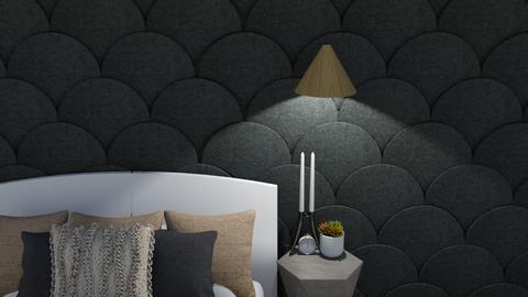 _Textured wall_ - Modern - Bedroom  - by milk07Designs