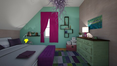 purple and green - by KuNa design