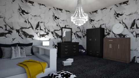 black and white - Classic - Bedroom  - by geode10