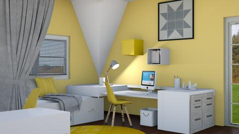 Mustard and gray - Modern - Office  - by Norbosa