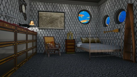 Capitan Nemo - Retro - Bedroom  - by deleted_1524667005_Elena68