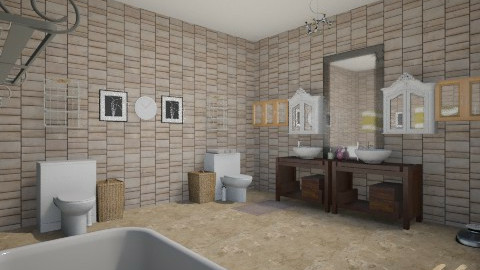 Retro bathroom(beta - Retro - Bathroom  - by Jordan Tez