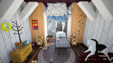childs winter - Country - Kids room  - by Alixandria Wolff
