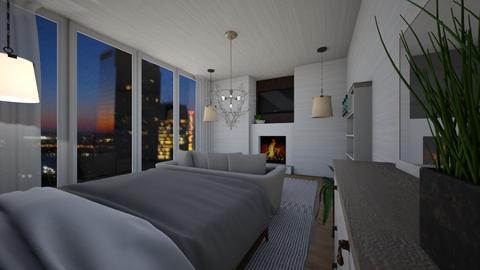 New York at Night - Minimal - Bedroom  - by Eli_Anna