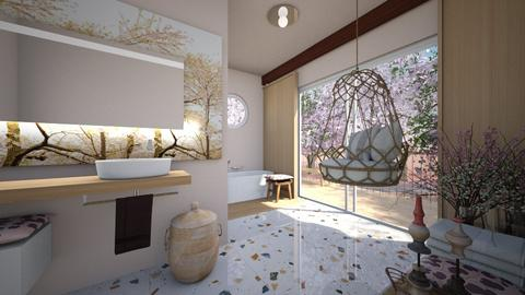 Cherry Blossom Bathroom - Bathroom  - by chania