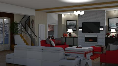 modern living room - Living room  - by nat mi
