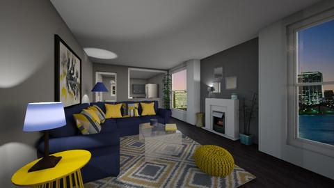 Navy Yellow - Living room - by kck22