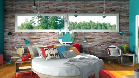 "The ""Rustic"" Hotel - Eclectic - Bedroom  - by idesine"