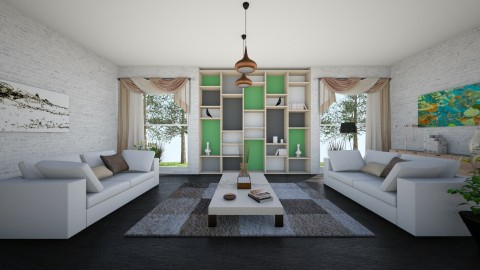 Sala Clean - Living room - by Michelle Silva_885