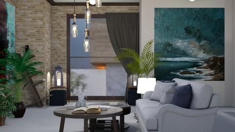 Brick livingroom - Living room  - by rechnaya