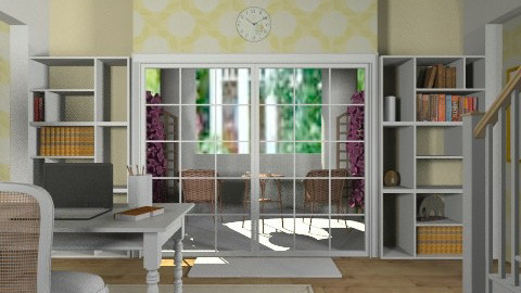 office with garden patio - by domestikate