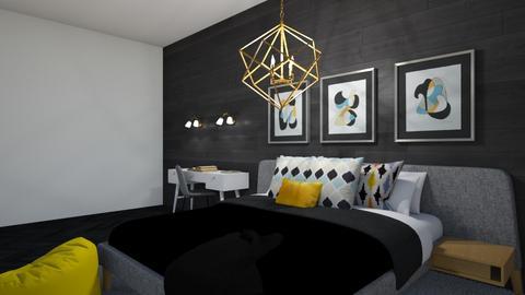 Dark bedroom - Bedroom  - by Ash03