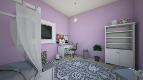 Teenage Girl Room 3 - Bedroom - by Olga Kluk