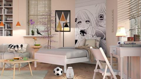 Teen Girl Room - Bedroom  - by Sally Simpson