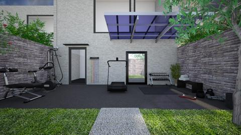 Outdoor Fitness garden - Garden  - by ginamelia22