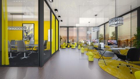 Yellow workplace  - by nikola00211