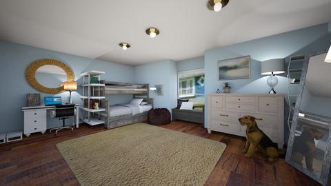 Sibling Room - Modern - Bedroom - by kaimunoz0600