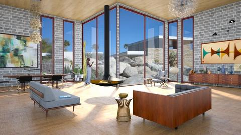 palm springs midcentury - Retro - Living room  - by kitty