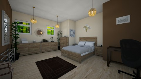 Brown Modern Bedroom - Rustic - Bedroom  - by millerfam