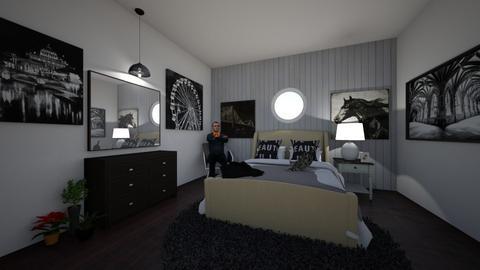 gray bedroom - Modern - Bedroom  - by charlotte_designs101