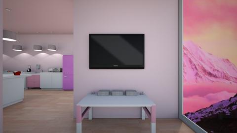 pink - Kitchen  - by Dodgergirl124