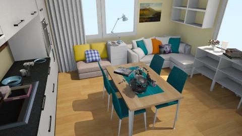 Salon 4 (sciany podłoga) - Minimal - Living room  - by aste44