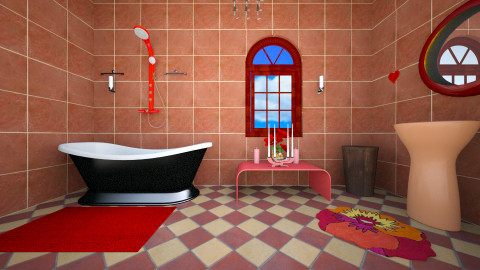 bathroom - Retro - Bathroom  - by Alixandria Wolff