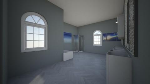 grey bathroom - Bathroom  - by Nleisen