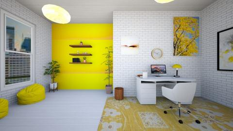 Yellow Working Space - Office  - by NykhalahM