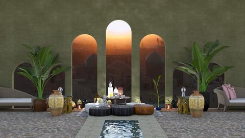 Moroccan - Garden  - by rechnaya