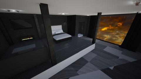 Black bedroom - Bedroom  - by Merily