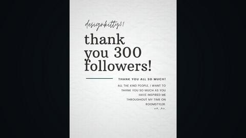 300 followers - by designkitty31