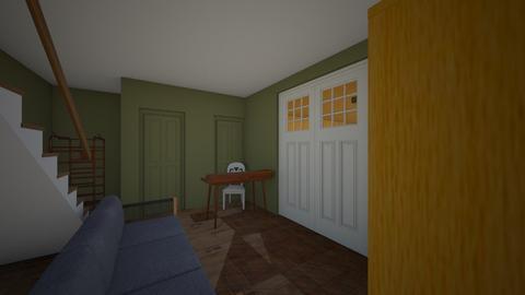 Paris attic art studio - Living room  - by Julia Nick