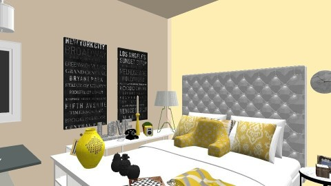 Yellow Bedroom - Eclectic - Bedroom  - by love Tully love