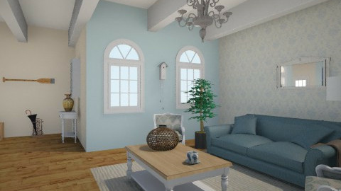 blue sky - Vintage - Living room - by Sali15