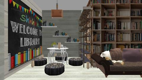 book library  - Bedroom  - by Malithu