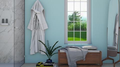 Simple Blue - Modern - Bathroom  - by stephendesign