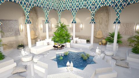 Riad Al Hassan - Garden  - by Claudia Correia
