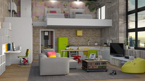 Studentens loft - Living room  - by Elsa00