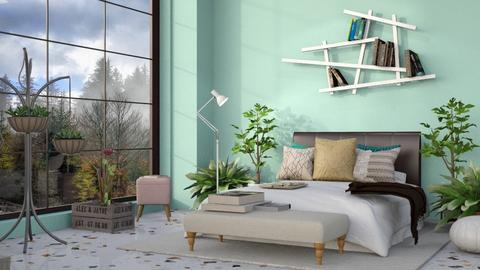 Misty dot room - Feminine - Bedroom  - by aschaper