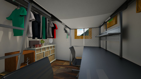 Micro Home Loft Bed - Bedroom  - by Christina Zouras