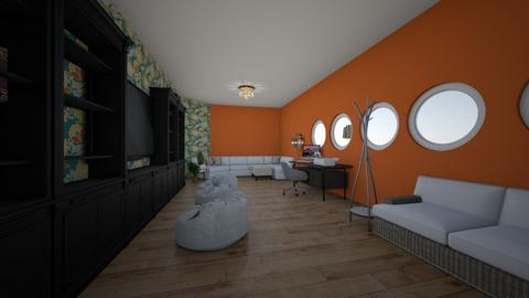 Modern Floral - Living room - by 0oMADYo0