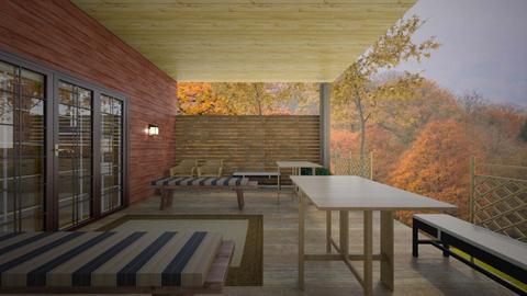 Autumn Porch Patio - Garden  - by mspence03