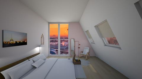 Pink themed attic bedroom - by ejgirl67