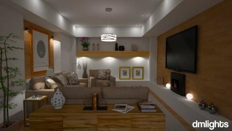 Sala de estar - Living room  - by Sanare Sousa
